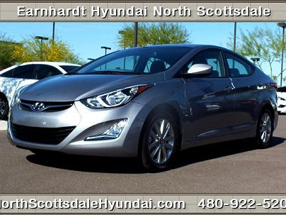 Photo 1:  2014 Hyundai Elantra Limited Edition in Scottsdale, AZ exterior view from front driver's side
