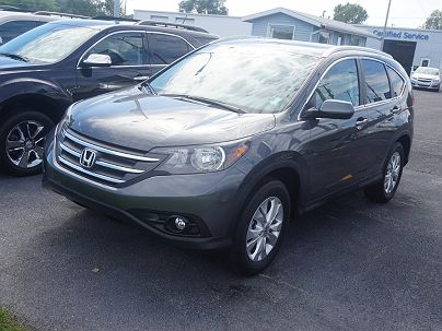 Photo 1: Polished Metal Metallic 2012 Honda CR-V EXL in New Haven, IN exterior view from front driver's side