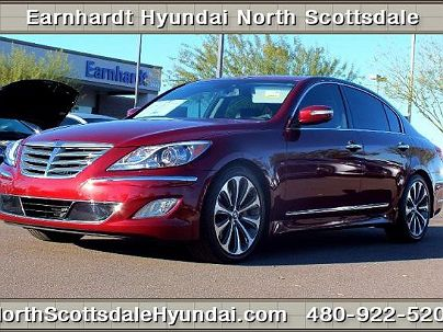 Photo 1: Maroon 2013 Hyundai Genesis R-Spec in Scottsdale, AZ exterior view from front driver's side