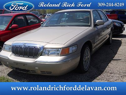Photo 1: Light Prairie Tan 1998 Mercury Grand Marquis GS in Delavan, IL exterior view from front driver's side