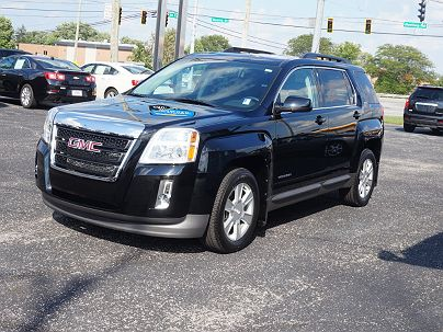 Photo 1: Carbon Black Metallic 2012 GMC Terrain SLT SLT-1 in New Haven, IN exterior view from front driver's side