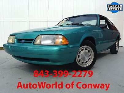 Photo 1: Teal 1992 Ford Mustang LX in Conway, SC exterior view from front driver's side