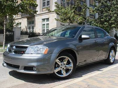 Photo 1: Charcoal 2013 Dodge Avenger SXT in San Antonio, TX exterior view from front driver's side