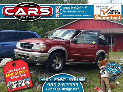 Photo 1: Burgundy 2001 Ford Explorer Eddie Bauer in Standish, MI exterior view from front driver's side