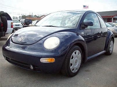 Photo 1:  1999 Volkswagen New Beetle GLS in Moody, AL front view of grill, headlights, hood and windshield
