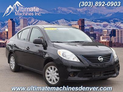 Photo 1: Super Black 2014 Nissan Versa S in Denver, CO exterior view from front driver's side