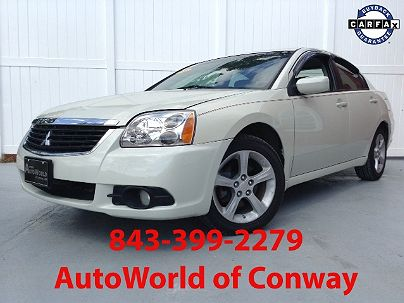 Photo 1: Dover White Pearl 2009 Mitsubishi Galant Sport in Conway, SC exterior view from front driver's side