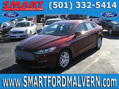 Photo 1: Bronze Fire Metallic Tinted Clear Coat 2016 Ford Fusion SE in Malvern, AR exterior view from front driver's side