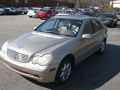Photo 1:  2002 Mercedes-Benz C 320 in Greensboro, NC front view of grill, headlights, hood and windshield