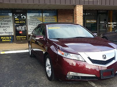 Photo 1: Burgundy 2010 Acura TL in Tallahassee, FL front view of grill, headlights, hood and windshield