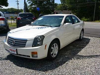 Photo 1: White Pearl 2003 Cadillac CTS Base in Mooresville, NC exterior view of passenger side