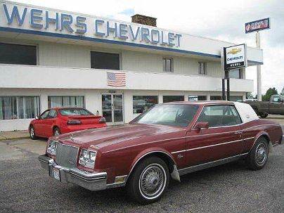 Photo 1: Maroon 1985 Buick Riviera in Bangor, WI exterior view from front driver's side
