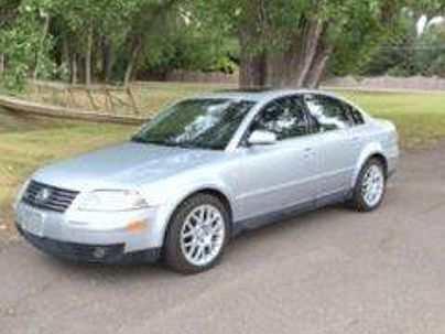 Photo 1:  2003 Volkswagen Passat W8 in Englewood, CO front view of grill, headlights, hood and windshield