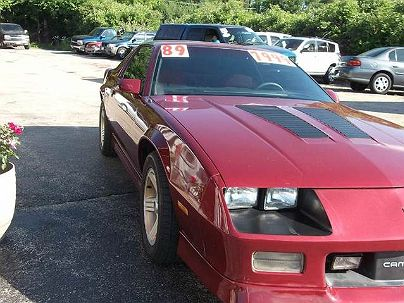 Photo 1: Maroon 1989 Chevrolet Camaro IROC-Z in Crystal Lake, IL exterior view of driver's side