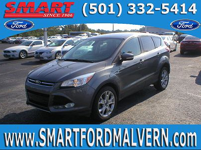 Photo 1: Sterling Gray Metallic 2013 Ford Escape SEL in Malvern, AR exterior view from front driver's side