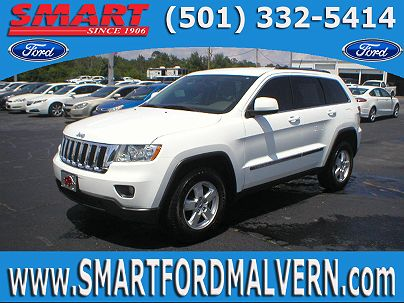 Photo 1: Bright White Clear Coat 2013 Jeep Grand Cherokee Laredo in Malvern, AR exterior view from front driver's side