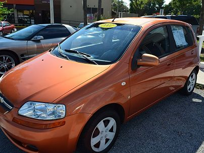 Photo 1:  2007 Chevrolet Aveo LS in Lakeland, FL front view of grill, headlights, hood and windshield
