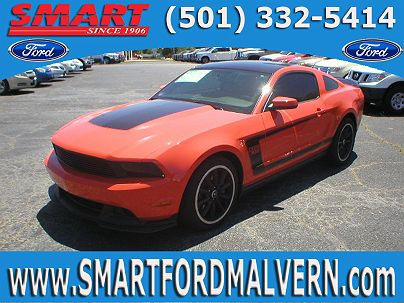 Photo 1: Competition Orange 2012 Ford Mustang Boss 302 in Malvern, AR exterior view from front driver's side
