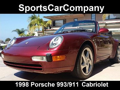 Photo 1:  1998 Porsche 911 993 in La Jolla, CA exterior view of passenger side