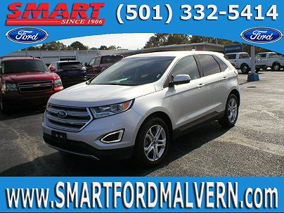 Photo 1: Ingot Silver 2015 Ford Edge Titanium in Malvern, AR exterior view from front driver's side