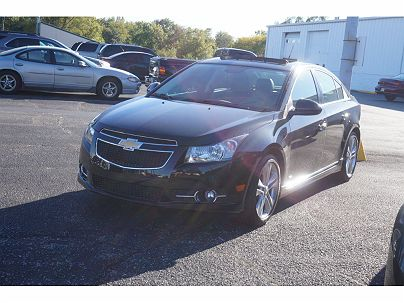Photo 1: Black Granite Metallic 2014 Chevrolet Cruze LTZ in New Haven, IN exterior view from front driver's side