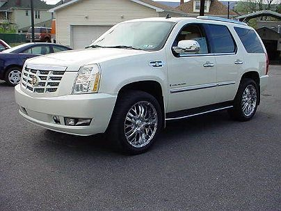Photo 1: White Diamond 2007 Cadillac Escalade in Scranton, PA exterior view from front driver's side