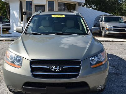 Photo 1:  2008 Hyundai Santa Fe Limited Edition in Lakeland, FL front view of grill, headlights, hood and windshield
