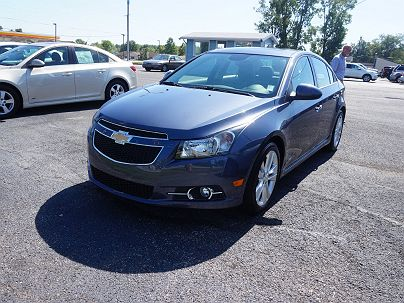 Photo 1: Atlantis Blue Metallic 2013 Chevrolet Cruze LTZ in New Haven, IN exterior view from front driver's side