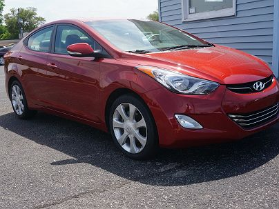 Photo 1: Red Allure 2011 Hyundai Elantra Limited Edition in New Haven, IN