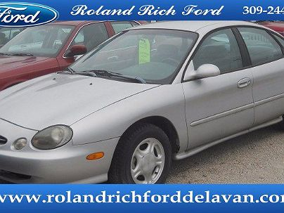 Photo 1: Silver Frost Clear Coat Metallic 1998 Ford Taurus SE in Delavan, IL exterior view from front driver's side