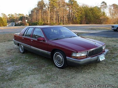 Photo 1: Burgundy 1995 Buick Roadmaster Base in Hayes, VA exterior view of driver's side