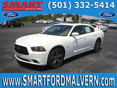Photo 1: Bright White Clear Coat 2014 Dodge Charger R/T Max in Malvern, AR exterior view from front driver's side