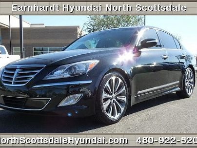 Photo 1: Caspian Black 2013 Hyundai Genesis R-Spec in Scottsdale, AZ exterior view from front driver's side
