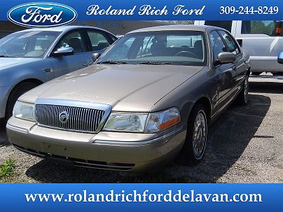 Photo 1: Arizona Beige Metallic 2003 Mercury Grand Marquis GS in Delavan, IL exterior view from front driver's side