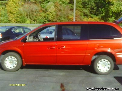 Photo 1: Burgundy 2002 Chrysler Town & Country LX in Hayes, VA exterior view of driver's side
