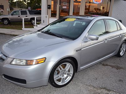 Photo 1:  2006 Acura TL in Lakeland, FL front view of grill, headlights, hood and windshield