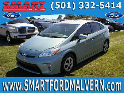 Photo 1: Sea Glass Pearl 2012 Toyota Prius Four in Malvern, AR exterior view from front driver's side